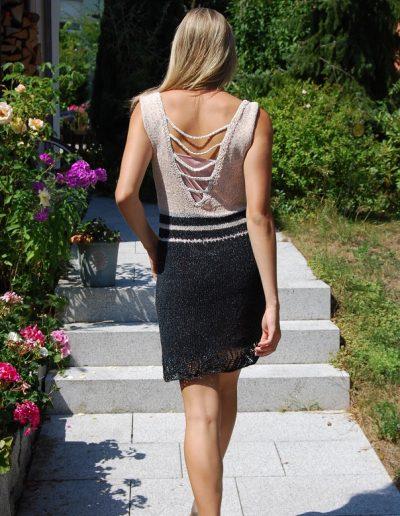Kleid rose-schwarz