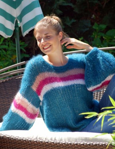 Soft-Pullover türkis